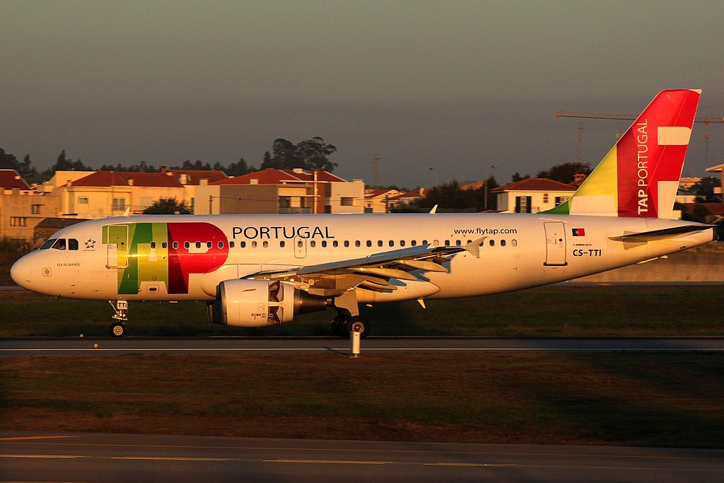 CS TTI Airbus A319 111 Eca de Queiros of TAP Portugal at Porto International Airport