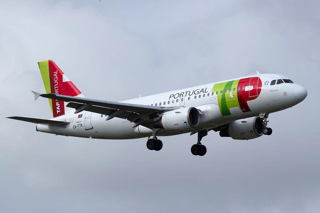 CS TTK Airbus A319 111 Miguel Torga of TAP Portugal at Lisbon Portela Airport