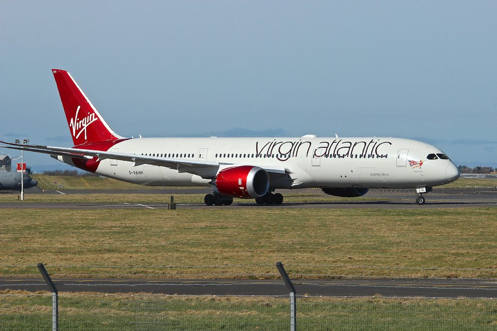 Dream Girl G VAHH Boeing 787 9 Dreamliner Virgin Atlantic at Glasgow Prestwick Airport
