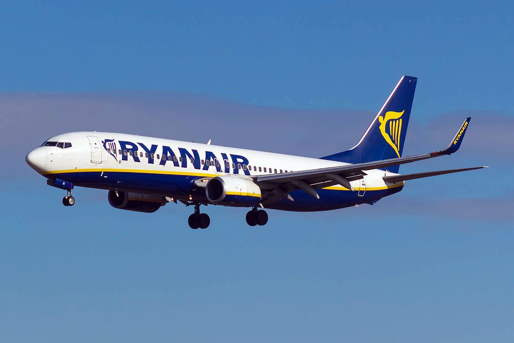 EI DAI Boeing 737 8ASWL of Ryanair at Barcelona Airport