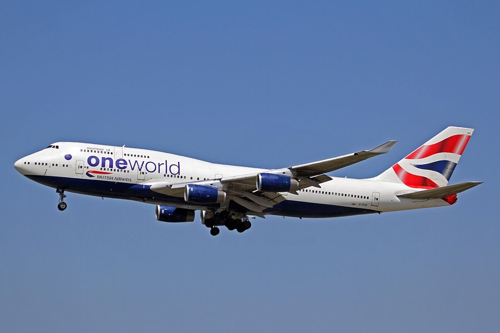 G CIVK Boeing 747 400 of British Airways Oneworld Livery at Vancouver International Airport