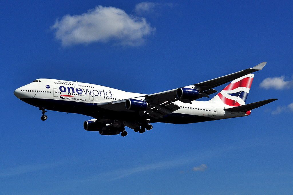 G CIVL Boeing 747 400 of British Airways Oneworld livery at London Heathrow Airport