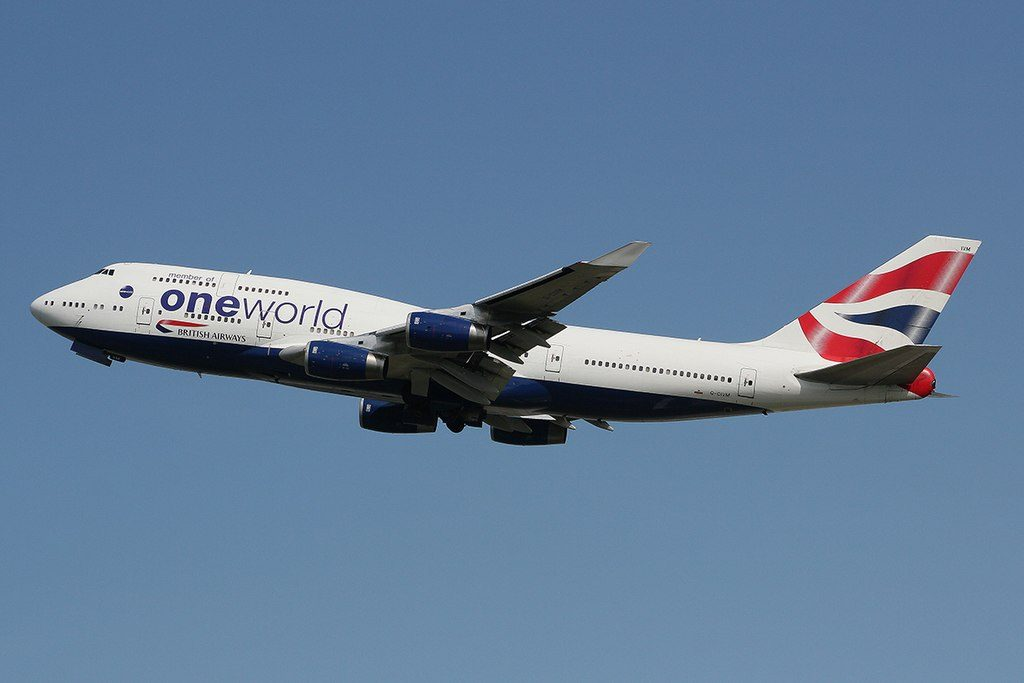 G CIVM Boeing 747 436 British Airways Oneworld livery at London Heathrow Airport