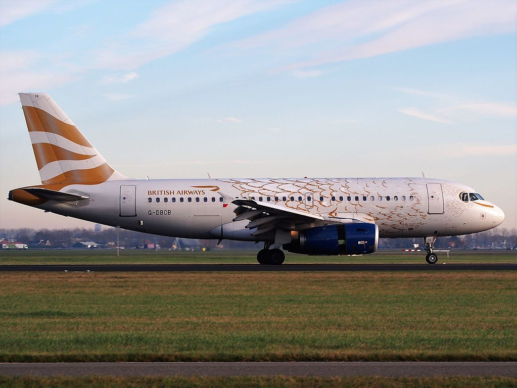 G DBCB Airbus A319 100 British Airways In The Olympic Dove Colours at Schiphol