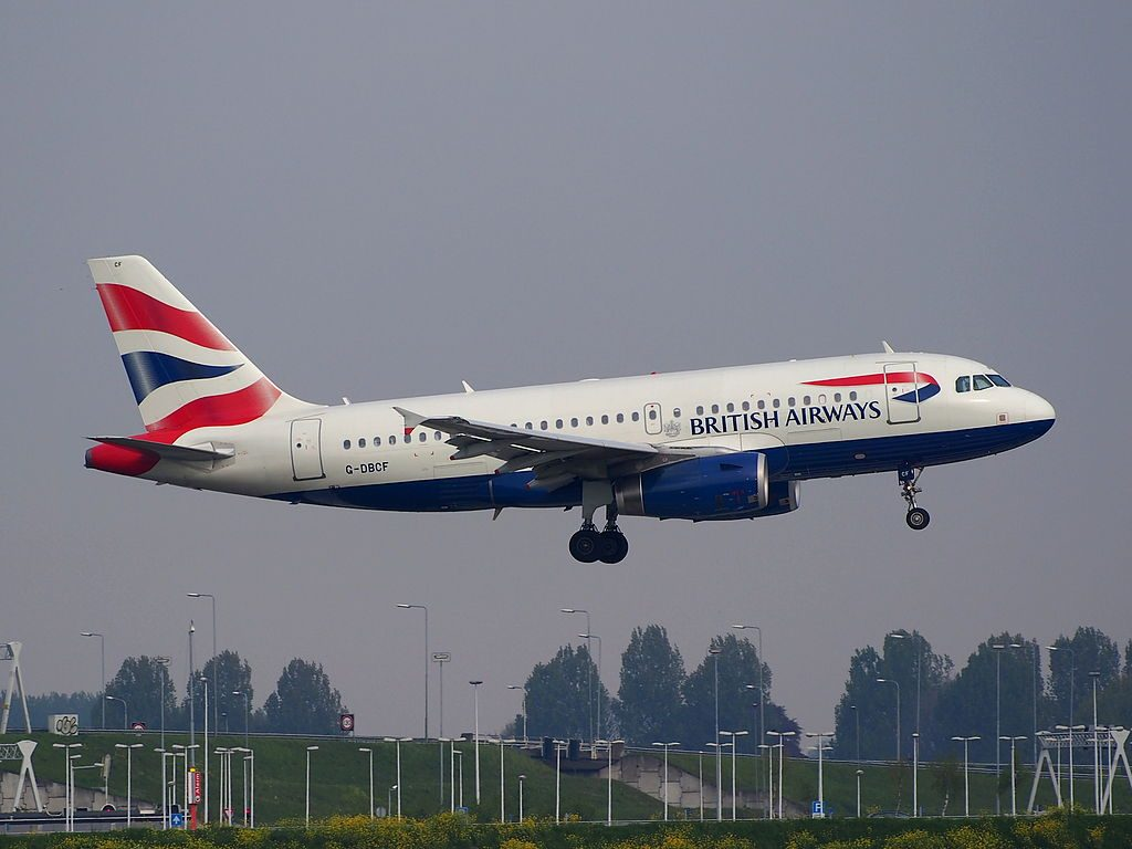 G DBCF Airbus A319 100 of British Airways at Amsterdam Airport Schiphol