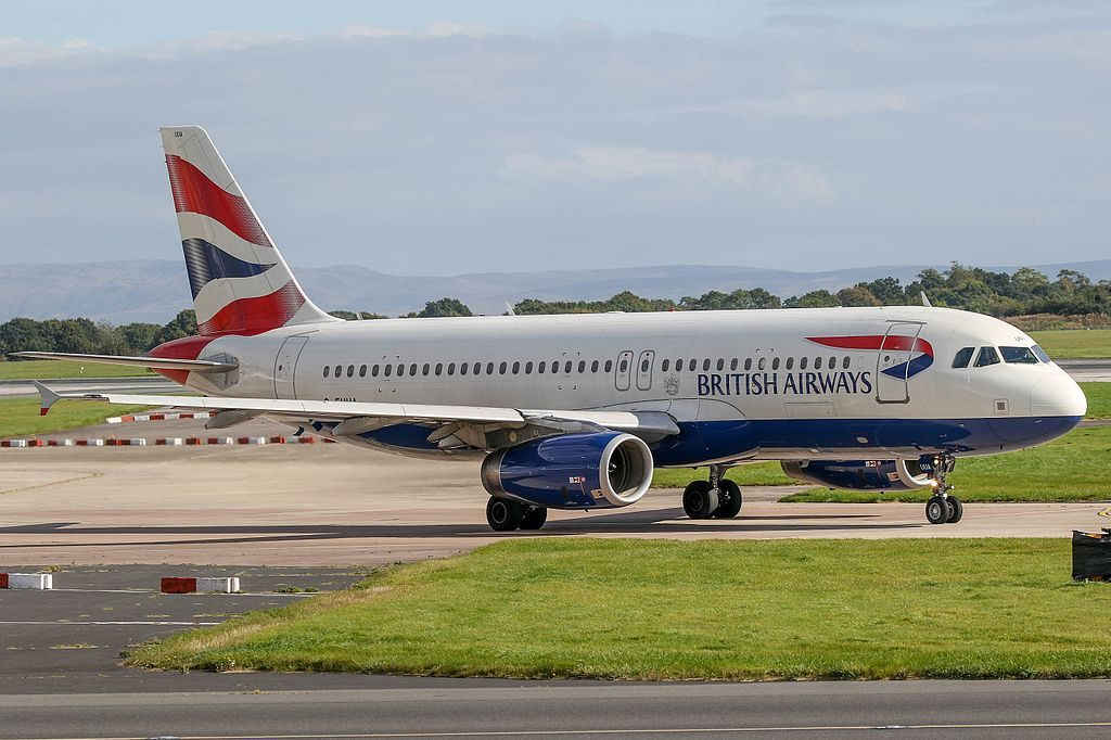 G EUUA British Airways Airbus A320 200 at Manchester Airport
