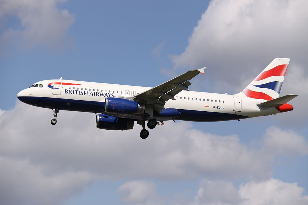 G EUUG Airbus A320 200 of British Airways at London Heathrow Airport