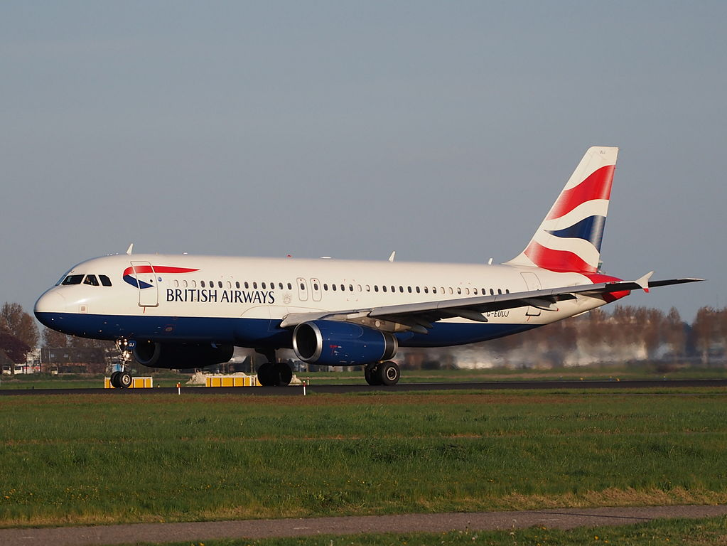 G EUUJ British Airways Airbus A320 232 takeoff from Polderbaan Schiphol Amsterdam