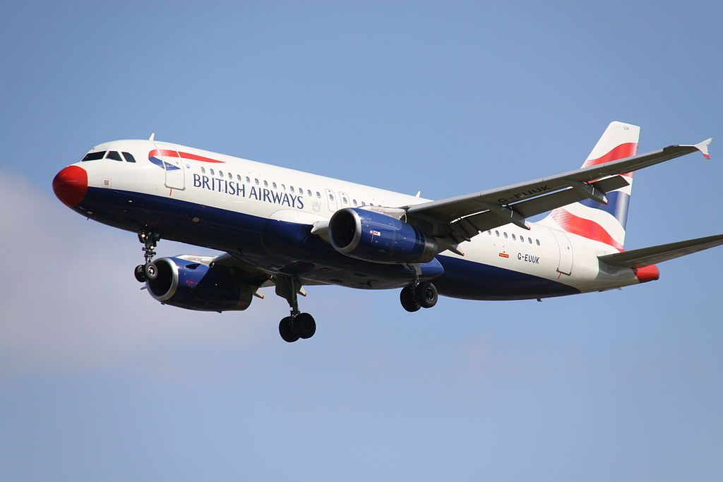 G EUUK Airbus A320 200 British Airways With A Red Nose at London Heathrow Airport