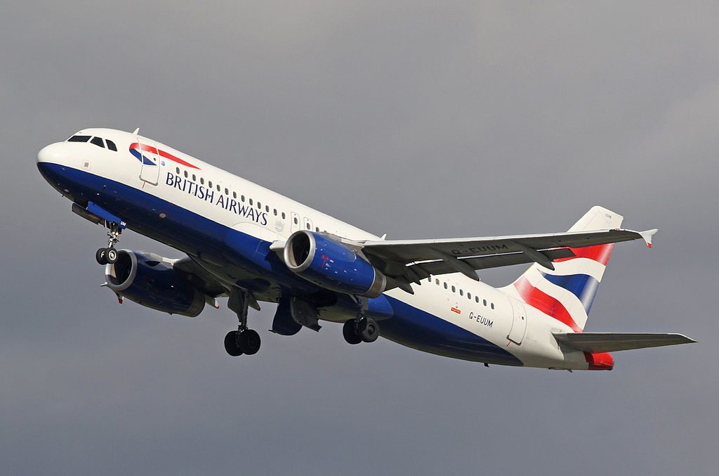 G EUUM Airbus A320 200 of British Airways at Manchester Airport
