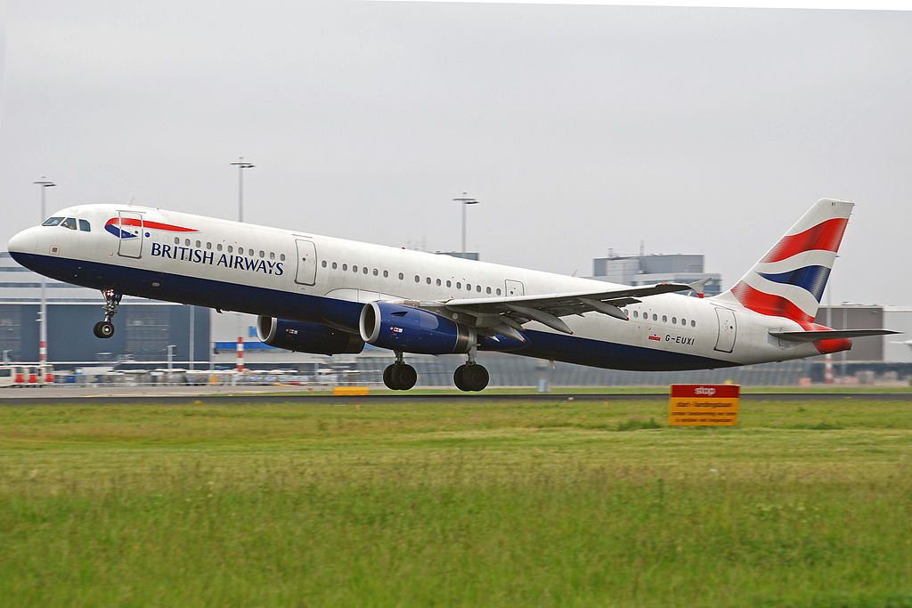 G EUXI Airbus A321 200 of British Airways at Amsterdam Airport Schiphol