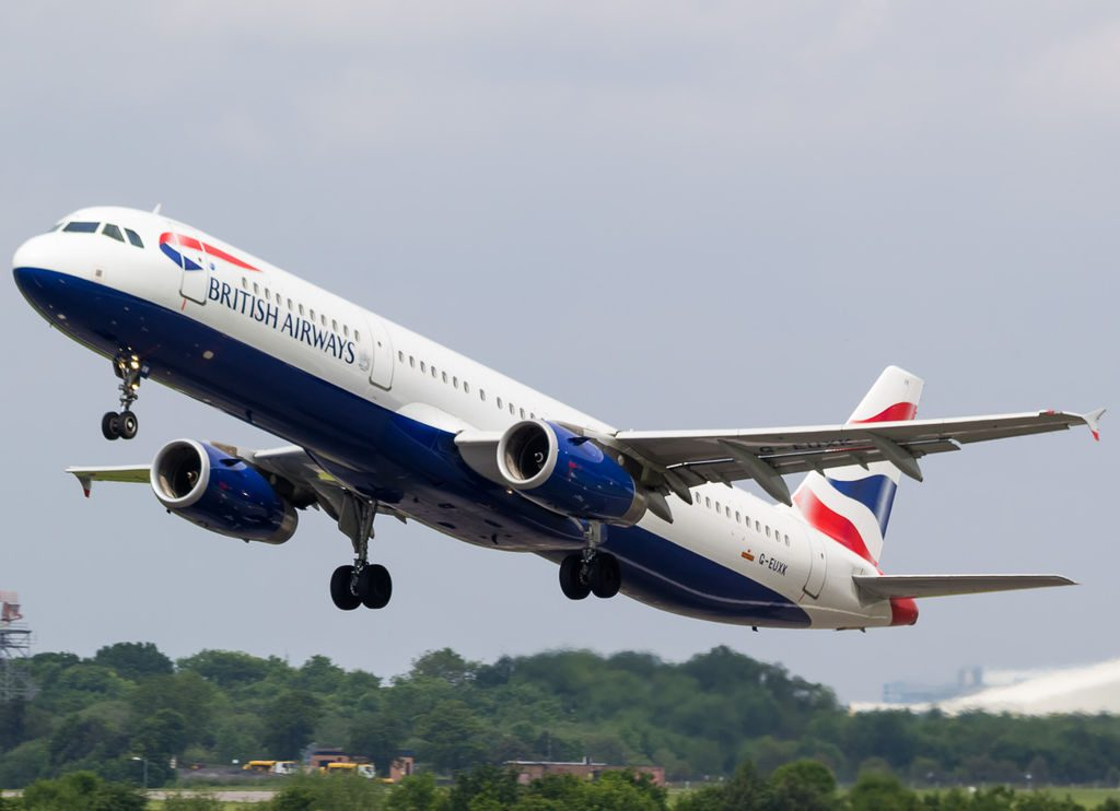 G EUXK Airbus A321 200 of British Airways at Manchester Airport