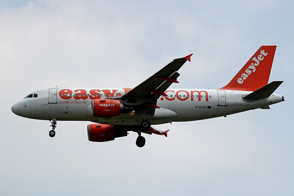 G EZAI Airbus A319 100 of EasyJet at Bilbao Airport