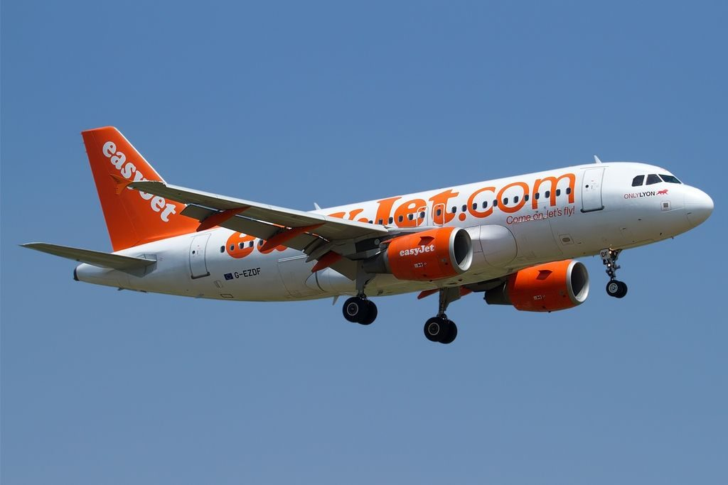 G EZDF Airbus A319 111 easyJet Spirit of easyJet 2014 James Baron at Bologna Guglielmo Marconi Airport