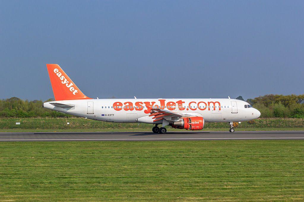 G EZTY EasyJet Airbus A320 214 Piotr Zimmermann at Manchester Airport