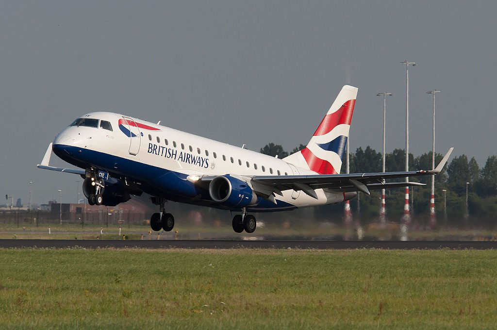 G LCYE Embraer 170 of BA CityFlyer at Amsterdam Airport Schiphol