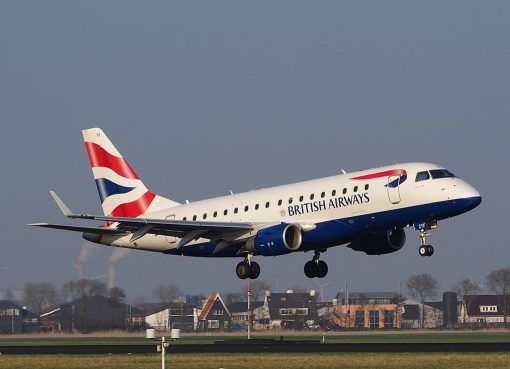 G LCYF BA CityFlyer Embraer ERJ 170STD ERJ 170 100 at Schiphol