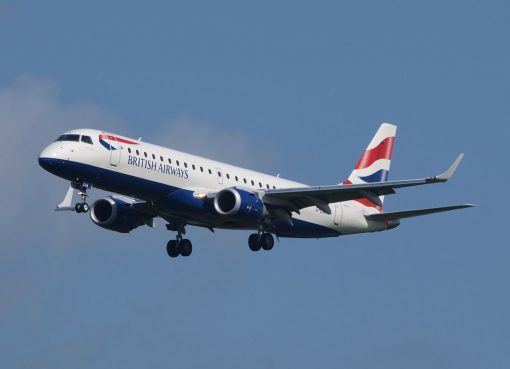 G LCYK Embraer 190 of BA CityFlyer at Amsterdam Airport Schiphol