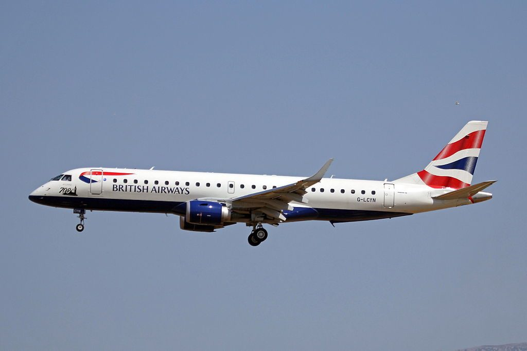G LCYN Embraer E190 of BA CityFlyer 700th E Jet titles at Palma de Mallorca Airport