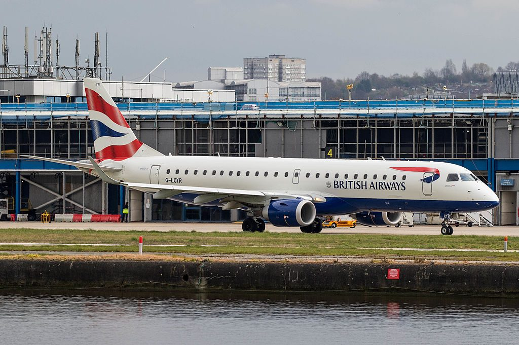 G LCYR Embraer E190 of BA CityFlyer at London City Airport