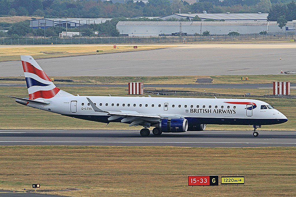 G LCYS Embraer ERJ 190SR British Airways CityFlyer at Birmingham Airport BHX