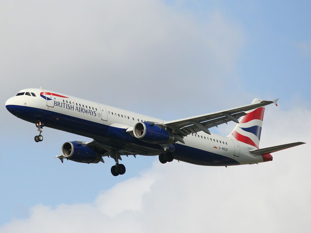 G MEDF Airbus A321 200 of British Airways at Ben Gurion International Airport