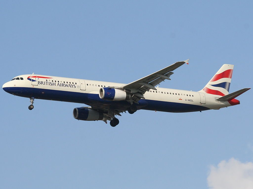 G MEDL Airbus A321 200 of British Airways at Ben Gurion International Airport