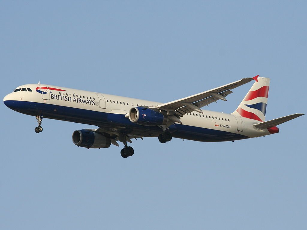 G MEDM Airbus A321 200 of British Airways at Ben Gurion International Airport
