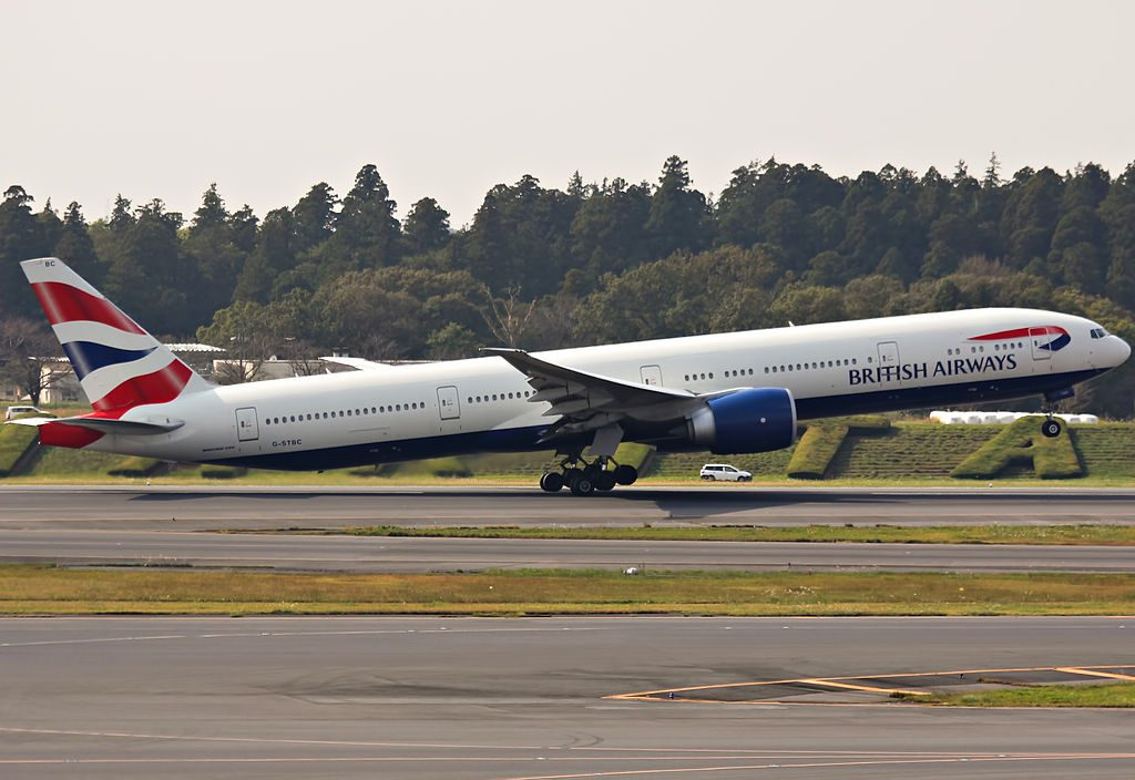 G STBC Boeing 777 300ER of British Airways at Narita International Airport