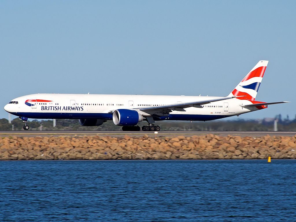 G STBF Boeing 777 336ER British Airways at Sydney Airport SYD