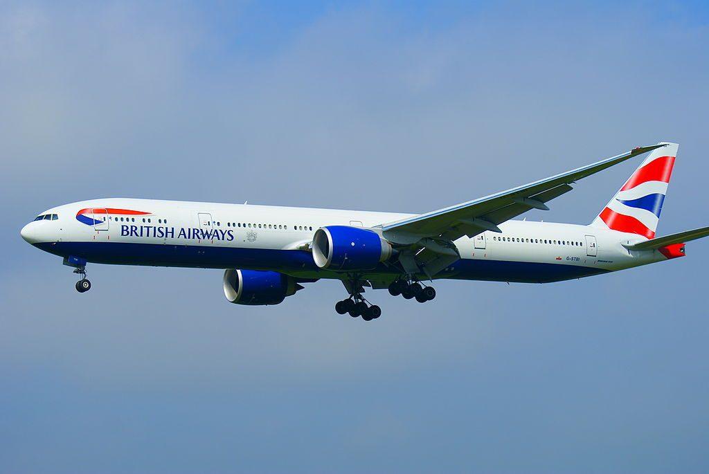 G STBI British airways Boeing 777 336ER landing at Tokyo Narita Airport