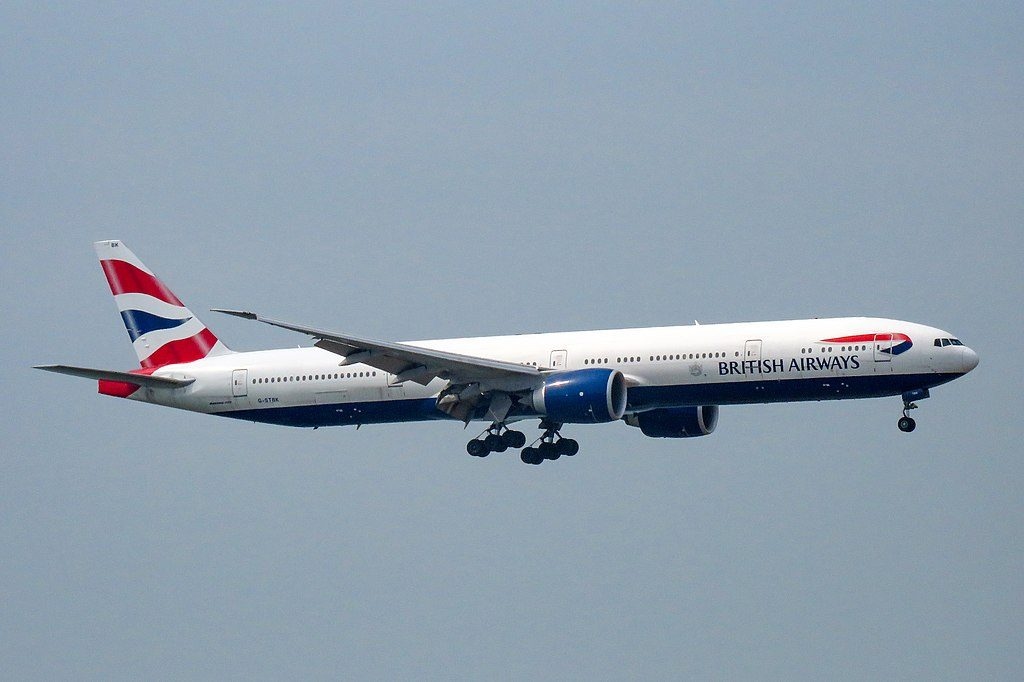 G STBK Boeing 777 300ER of British Airways at Hong Kong International Airport
