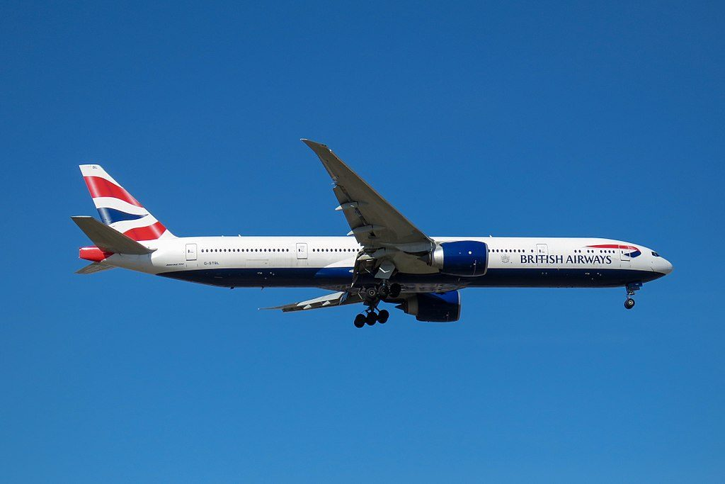 G STBL Boeing 777 300ER of British Airways at Beijing Capital International Airport