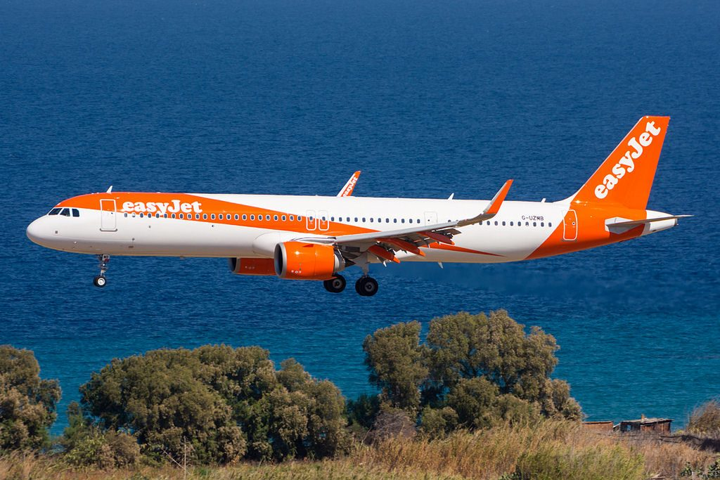 G UZMB easyJet Airbus A321 251NX at Rhodes International Airport