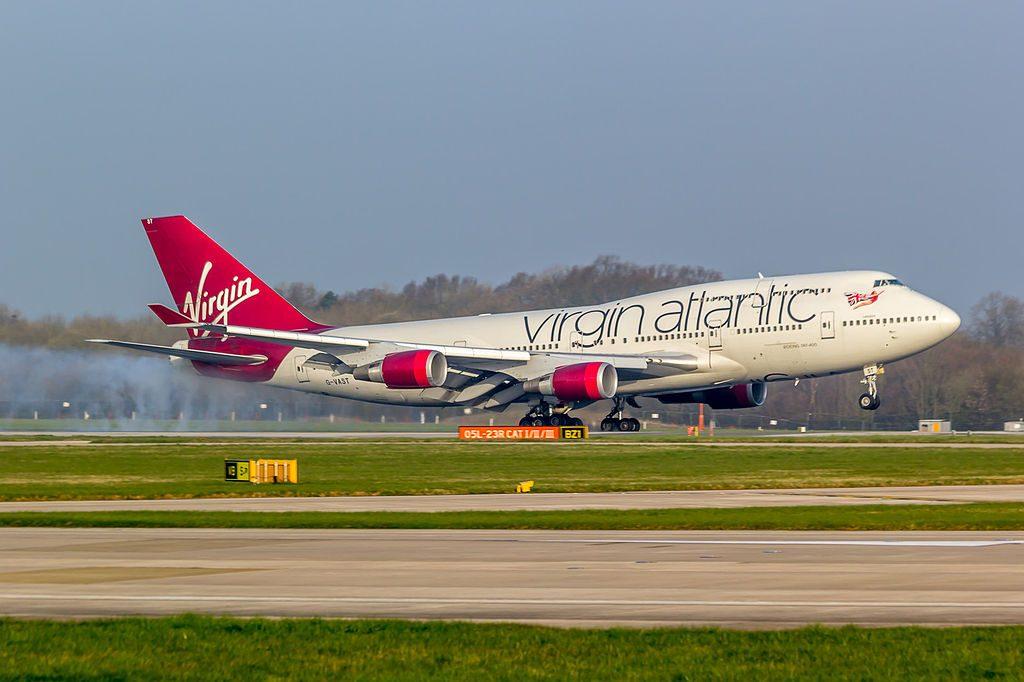 G VAST Virgin Atlantic Airways Boeing 747 41R Ladybird at Manchester Airport