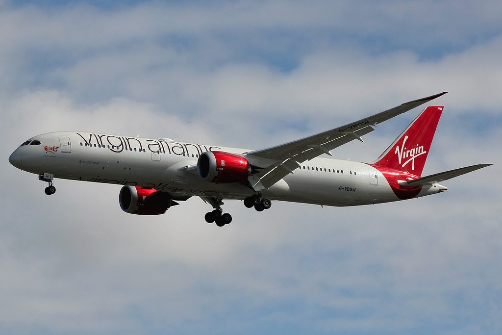 G VBOW Boeing 787 9 Dreamliner Virgin Atlantic Pearly Queen at London Heathrow LHR
