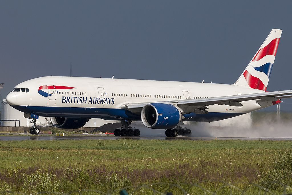 G VIIH Boeing 777 200ER of British Airways at Domodedovo International Airport