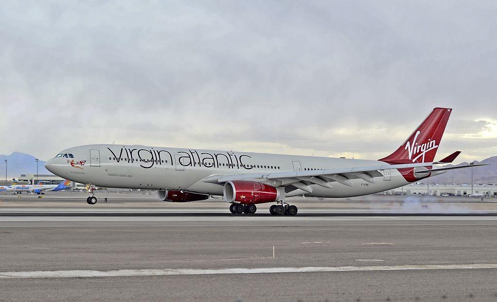 G VINE Virgin Atlantic Airbus A330 343X Champagne Belle at McCarran International Airport