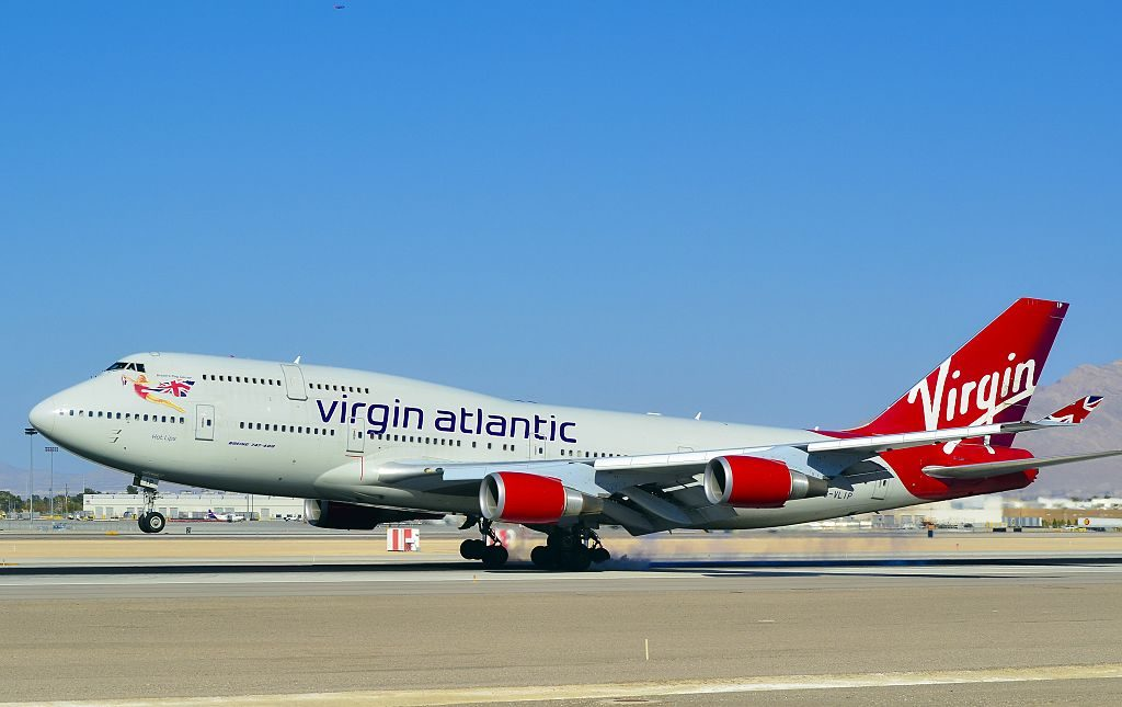 G VLIP Virgin Atlantic Airways Boeing 747 443 Hot Lips at McCarran International Airport