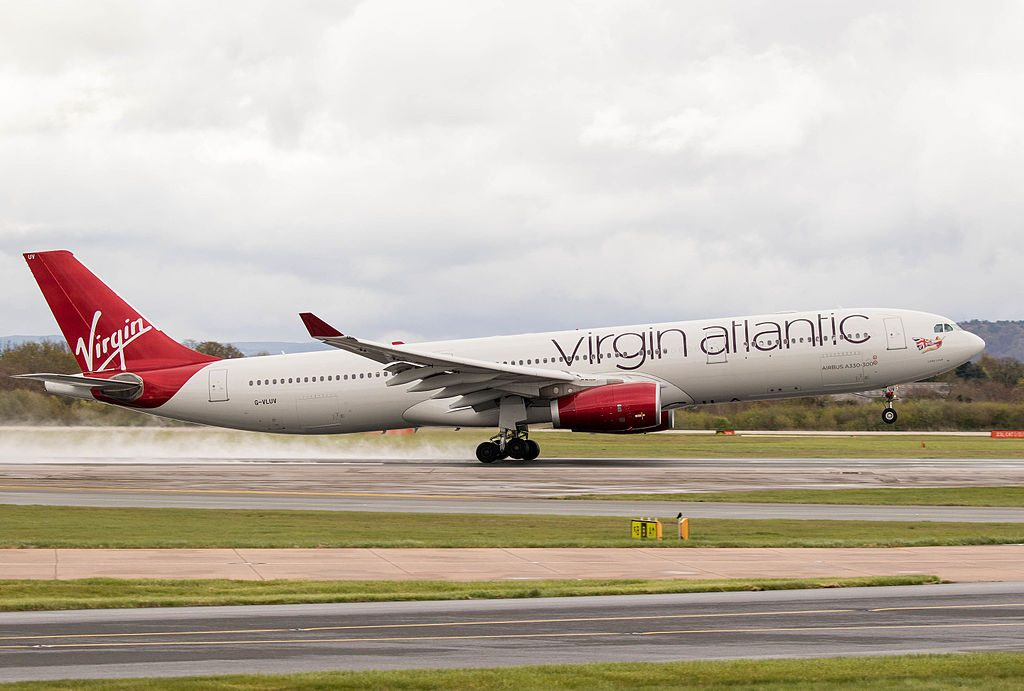 G VLUV Airbus A330 343 Lady Love of Virgin Atlantic at Manchester Airport