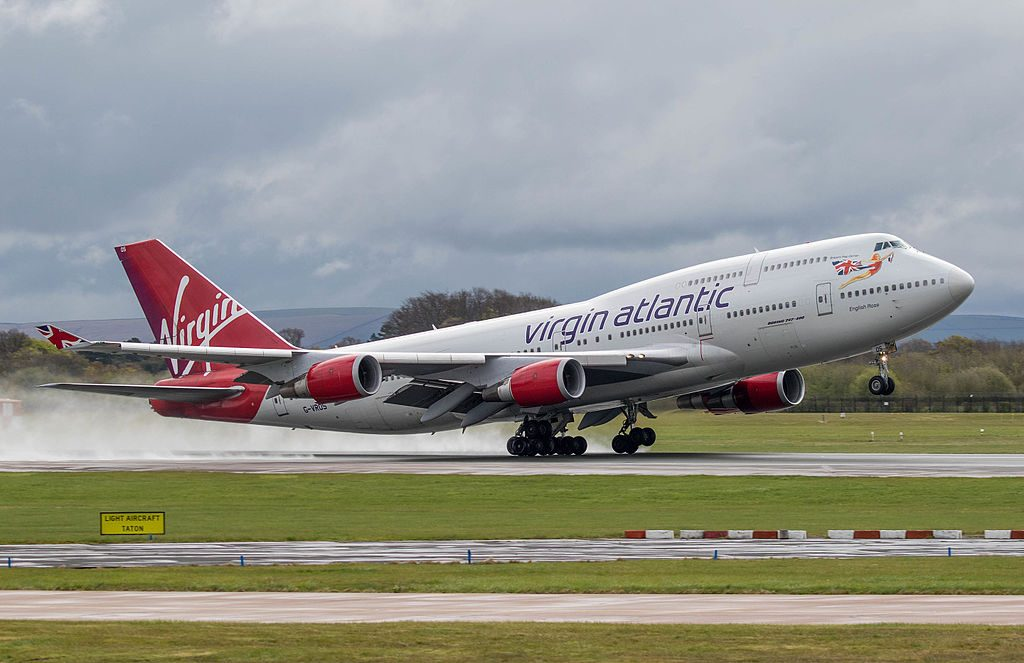 G VROS Boeing 747 443 English Rose of Virgin Atlantic at Manchester Airport