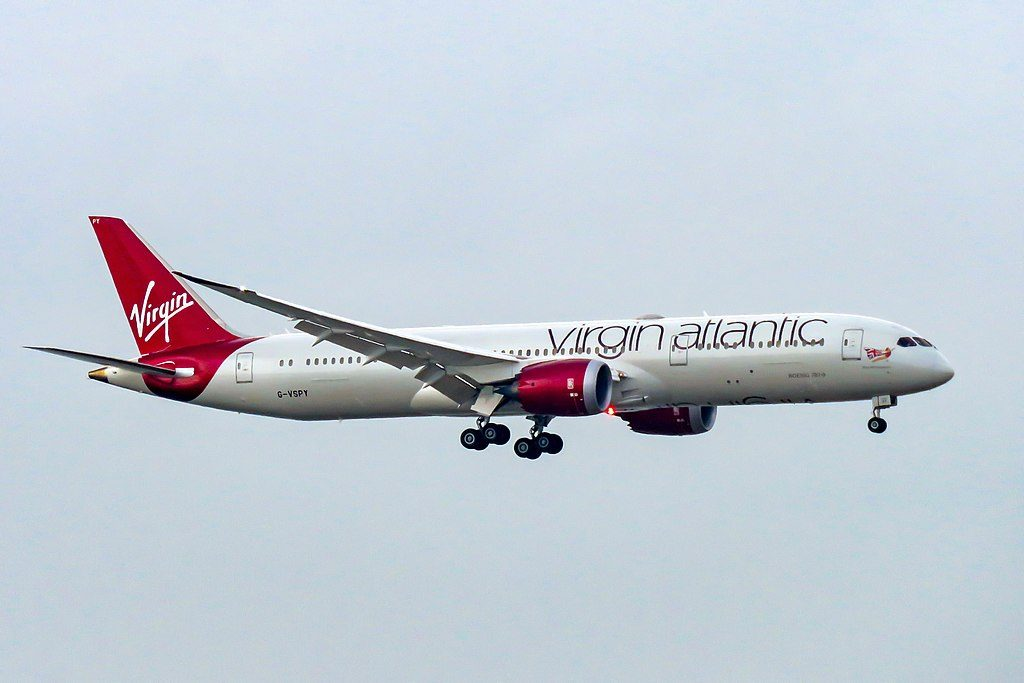 G VSPY Boeing 787 9 Dreamliner Miss Moneypenny of Virgin Atlantic at Hong Kong International Airport