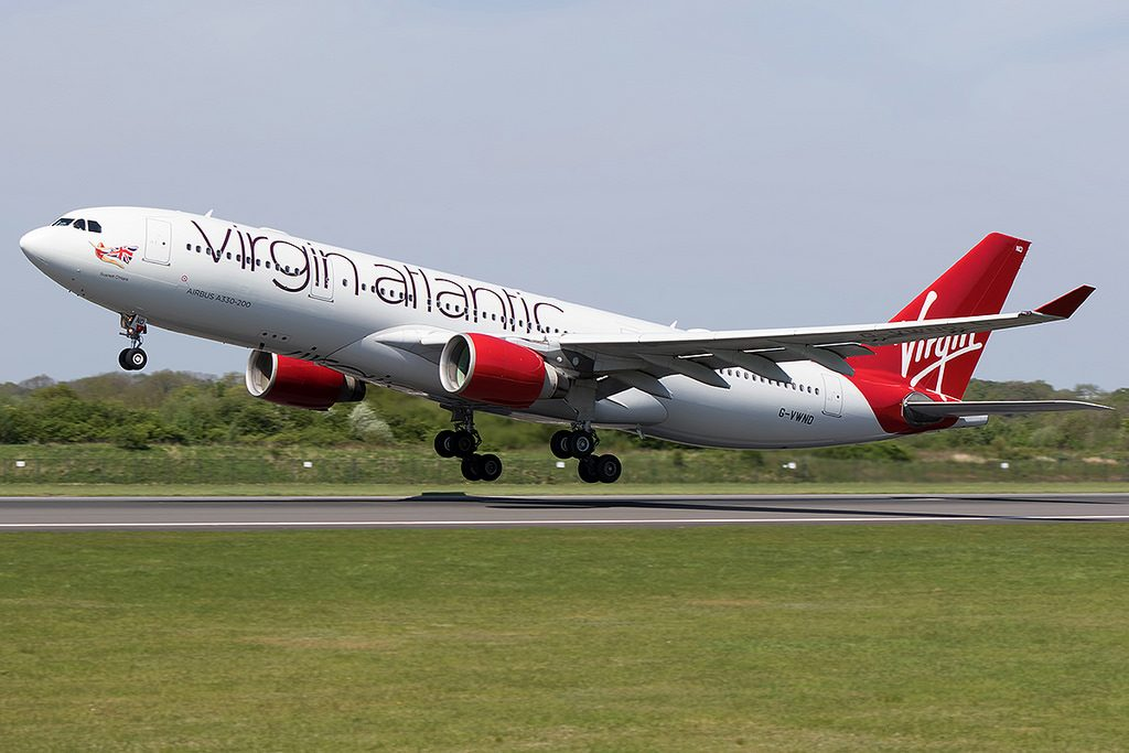 G VWND Virgin Atlantic Airways Airbus A330 223 Scarlet o'Hara at Manchester Airport