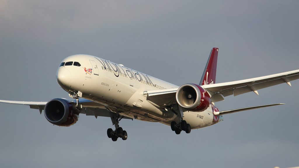 G VWOO Boeing 787 9 Dreamliner Virgin Atlantic Leading Lady at London Heathrow Airport