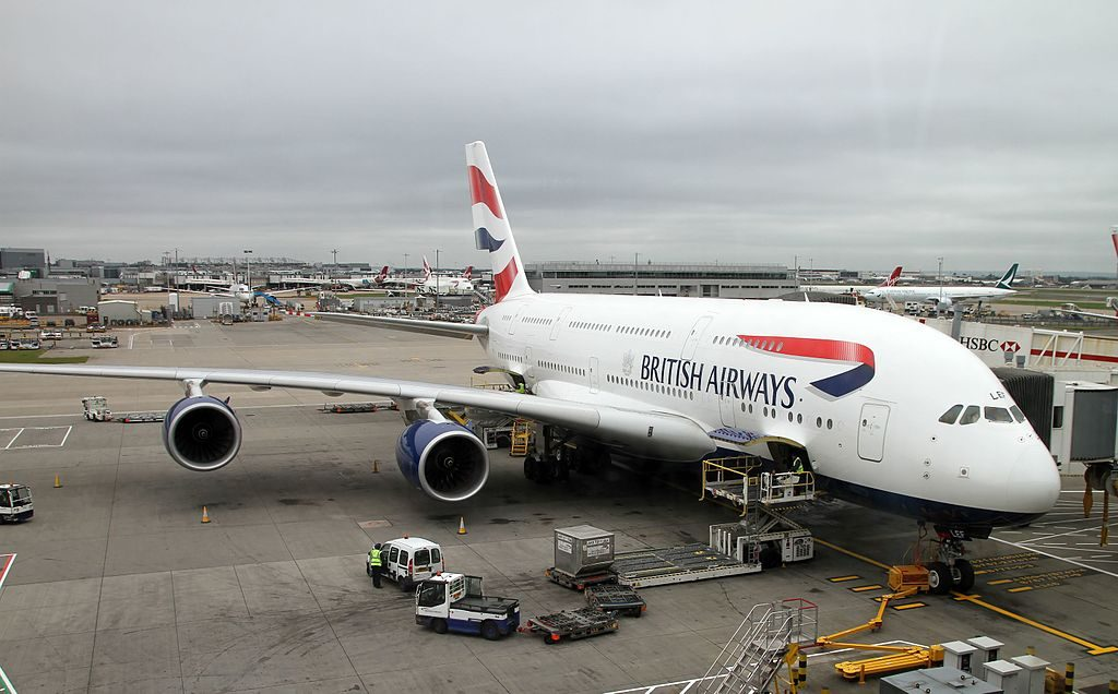 G XLEF Airbus A380 800 of British Airways at London Heathrow Airport