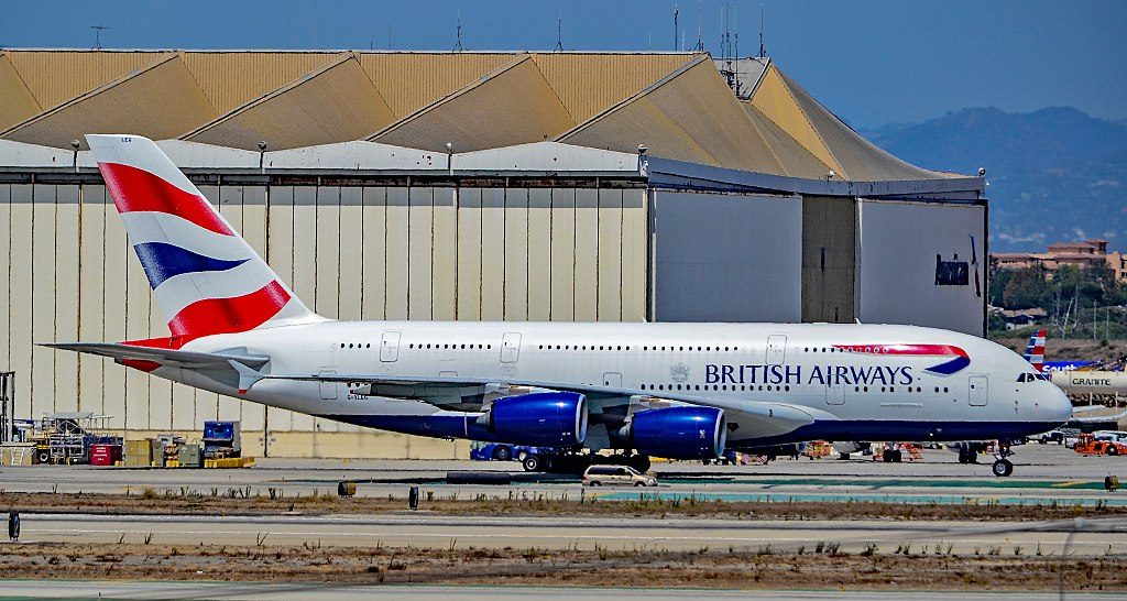 G XLEG British Airways Airbus A380 841 at Los Angeles International Airport LAX