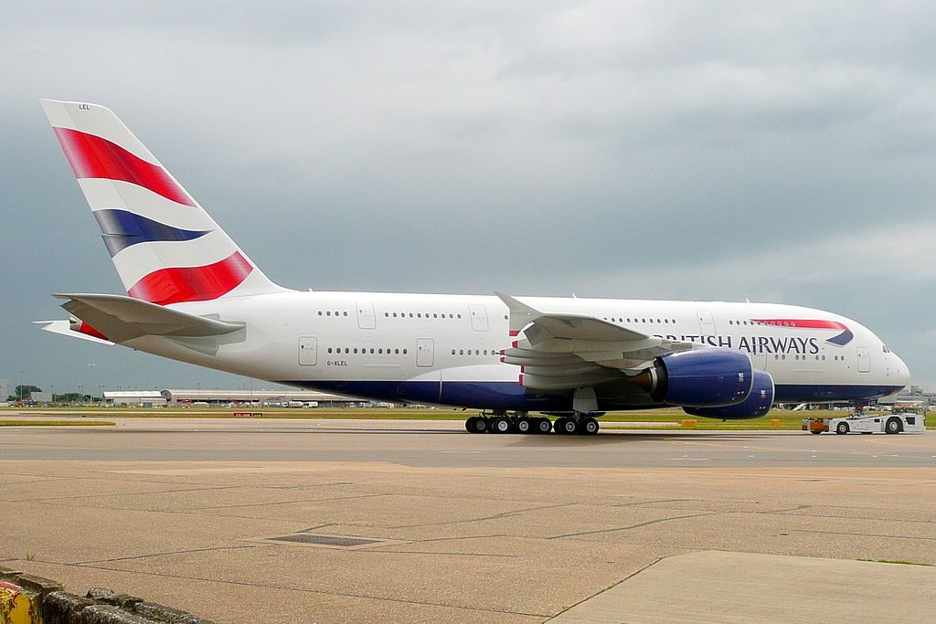 G XLEL Airbus A380 of British Airways at London Heathrow Airport
