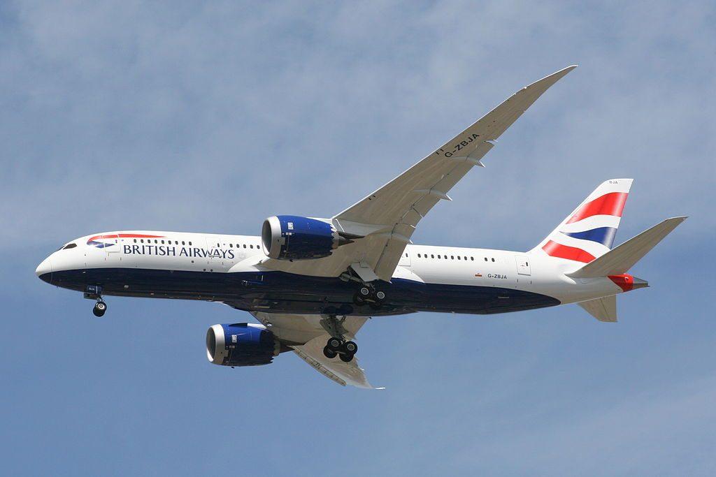 G ZBJA Boeing 787 8 Dreamliner British Airways landing 027L on its delivery flight at London Heathrow Airport