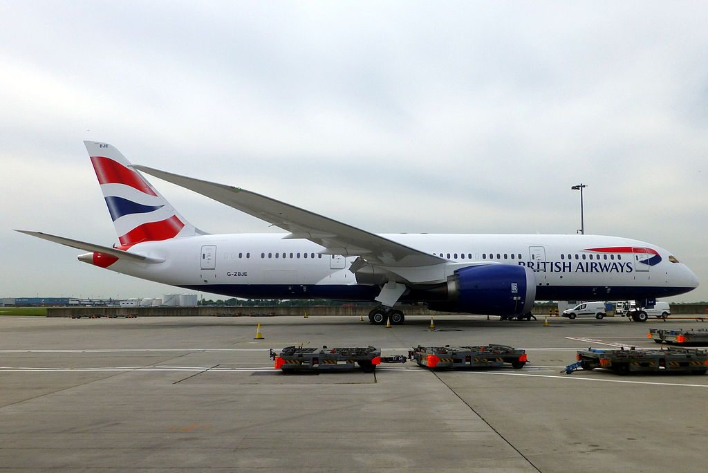 G ZBJE Boeing 787 8 Dreamliner of British Airways at London Heathrow Airport