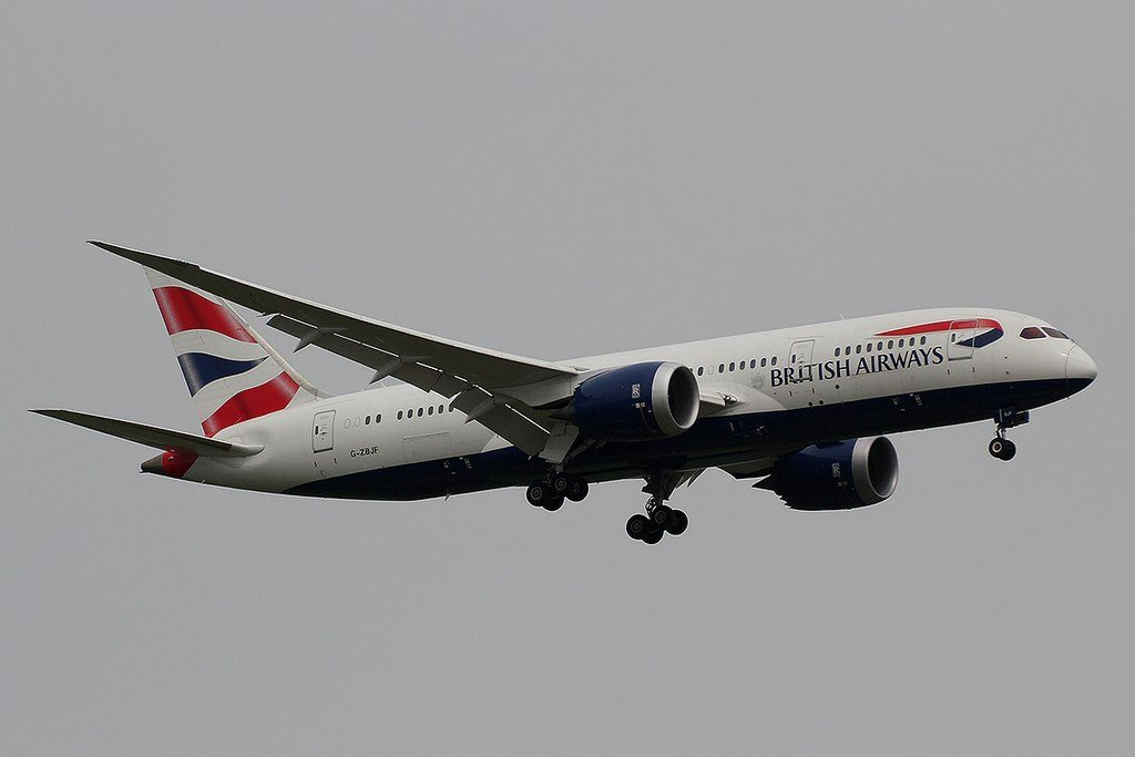 G ZBJF Boeing 787 8 Dreamliner of British Airways at Rajiv Gandhi International Airport